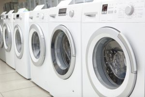 Sales of new washing machines in the store